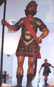 Recent statues of Goliath and David.