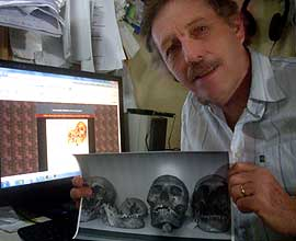 Terje Dahl and picture of the Lovelock-skulls