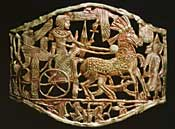 Gold plated belt buckle from Tutankhamun's tomb